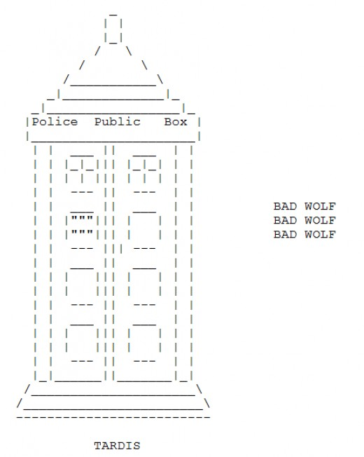 Ascii Art Images Doctor Who Ascii Art From Httpthatgrrlbpages