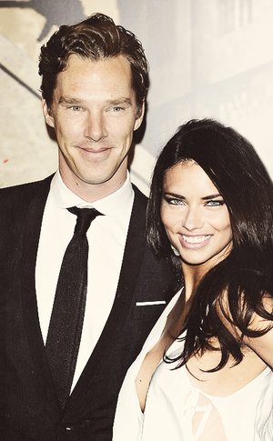 Adriana Lima and Benedict Cumberbatch