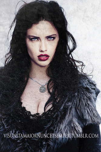 adriana lima fondo de pantalla with a pelaje, piel capa titled queen of Ice