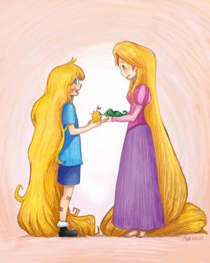 finn and rapunzel