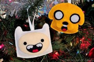 Finn and Jake Ornaments