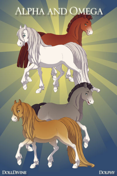 Alpha and Omega as horses