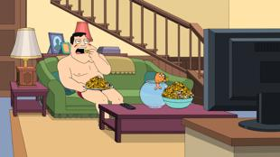 American Dad! wallpaper probably with a family room titled Kung Pao Turkey