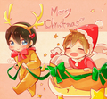 Free! Christmas fan art - anime fan art