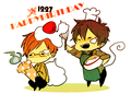 happy birthday okumura twins  - anime fan art