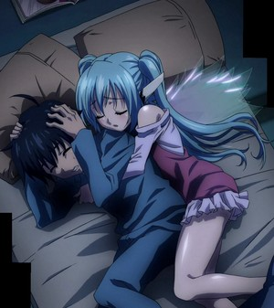 Tomoki and Nymph from Heaven's Lost Property