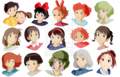 Studio Ghibli Girls  - anime photo