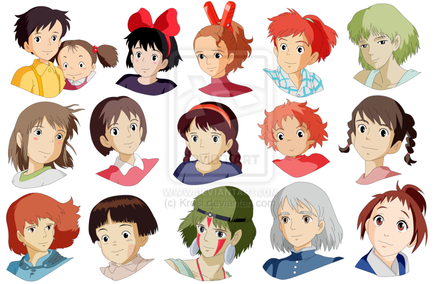 Studio Ghibli Girls Anime Photo 36371315 Fanpop