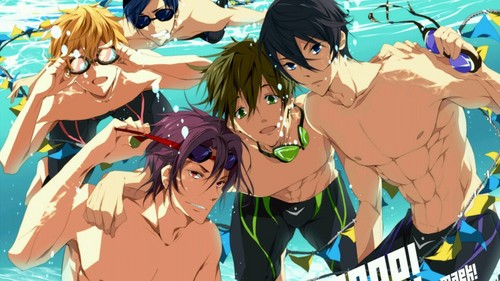 Anime Hintergrund with Anime titled The guys from Free!