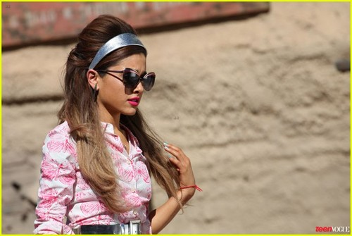 ariana grande wallpaper probably with sunglasses called Ariana Grande Covers 'Teen Vogue' February 2014
