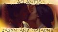 Jason and Ariadne kiss