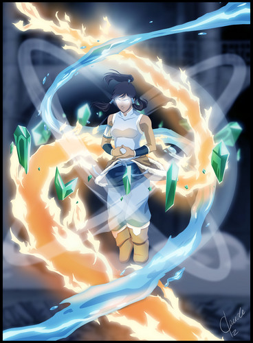 Avatar: The Legend of Korra پیپر وال probably containing a آگ کے, آگ titled avatar state 2