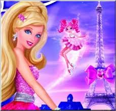 Barbie In a Fashion Fairytale! karatasi la kupamba ukuta possibly containing a portrait called b a r i e