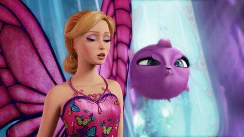 Sinema za Barbie karatasi la kupamba ukuta entitled Barbie Mariposa And The Fairy Princess