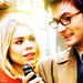 Billie Piper as Rose Tyler with David Tennant as The Tenth Doctor - billie-piper icon