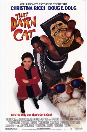 "Movie Poster For The 1997 ডিজনি Film, ""That Darn Cat"""