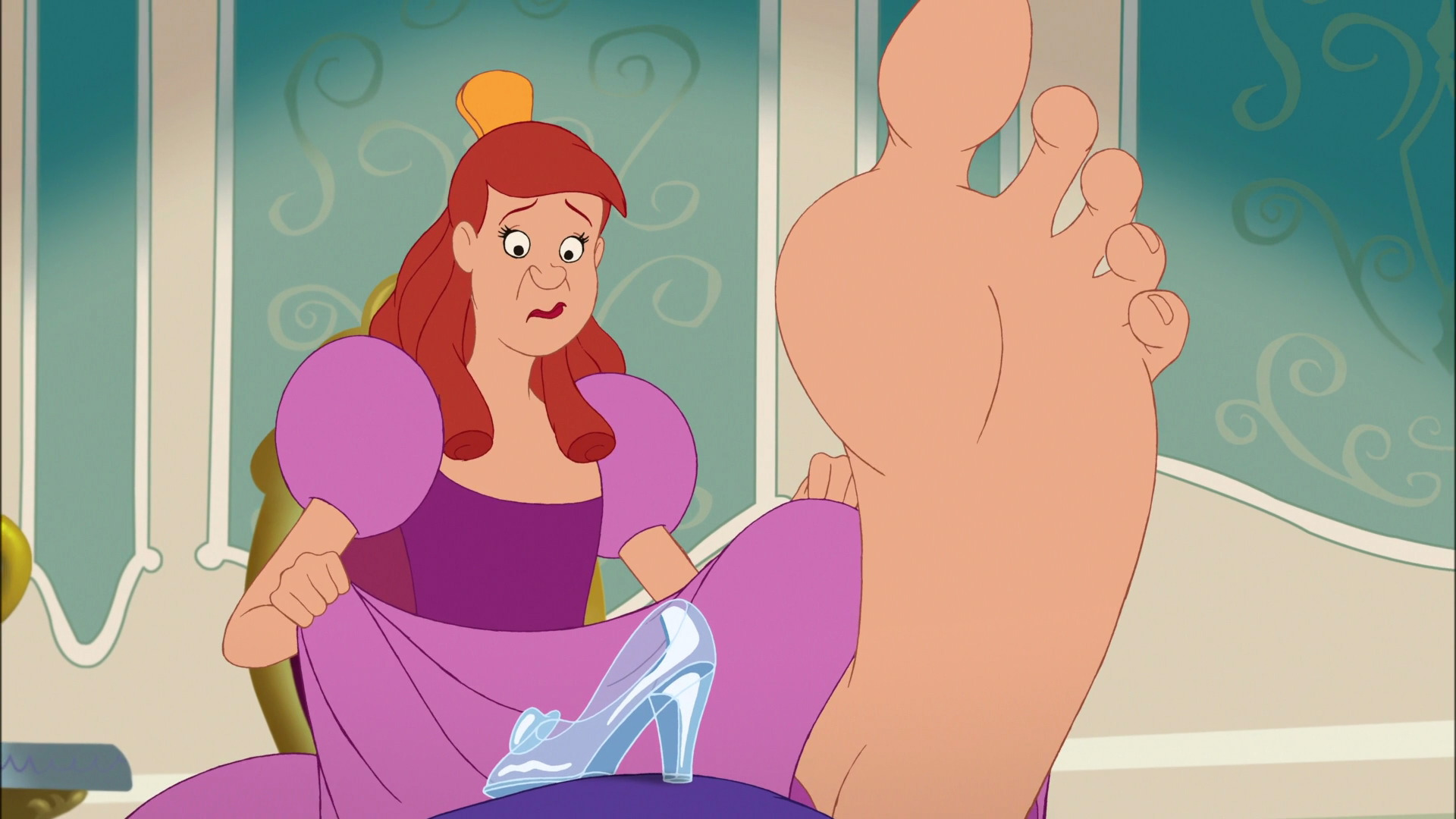 Anastasia's foot