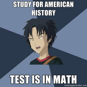 Test is in math