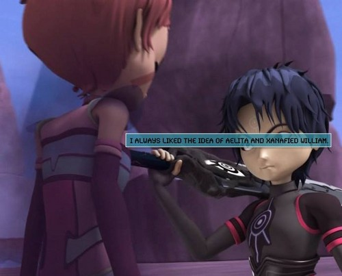 Code Lyoko kertas dinding called XANA-William and Aelita