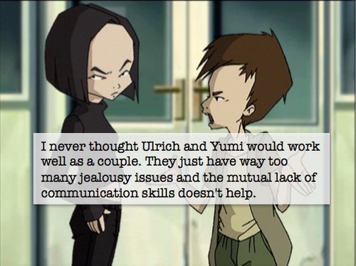 Code Lyoko kertas dinding containing Anime entitled Yumi and Ulrich