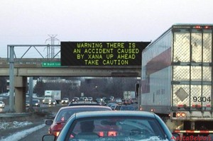 Warning on the highway
