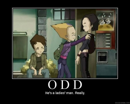 Code Lyoko kertas dinding probably with Anime called Odds a ladies man