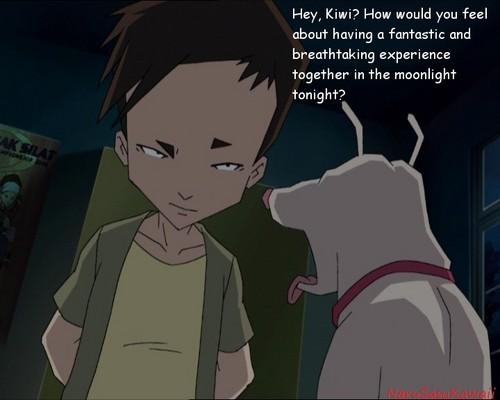 Code Lyoko fond d'écran with animé entitled Ulrich and Kiwi