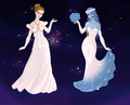 Victoria and Emily wedding dresses