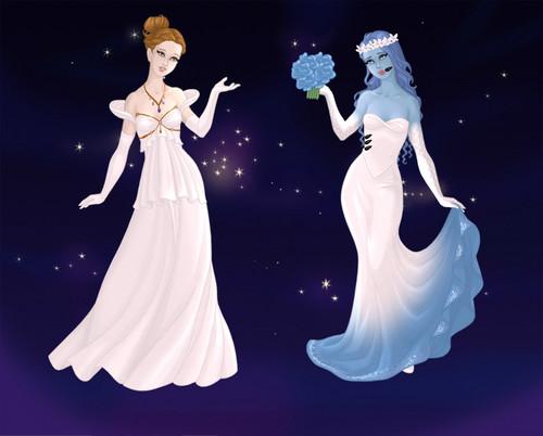 The corpse bride wedding dress