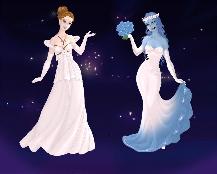 Corpse Bride images Victoria and Emily wedding dresses HD wallpaper ...