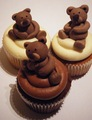 Brown oso, oso de cupcakes