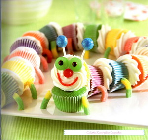 oruga, caterpillar cupcakes