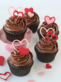 Chocolate Heart Valentine Cupcakes