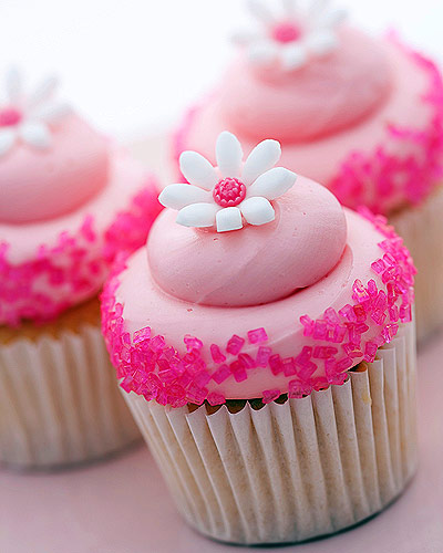 Cupcakes wallpaper containing a cupcake, a cream cheese, and a bouquet titled Pink Gourmet Cupcakes
