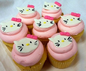 Hello Kitty カップケーキ