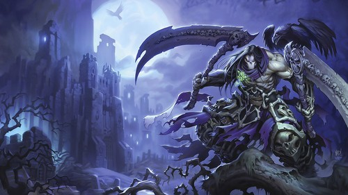 Darksiders wallpaper probably containing a fountain entitled Death Lives