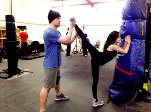 Zoey and Danila training