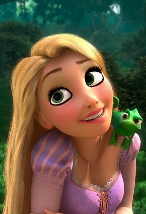 Rapunzel's nude look