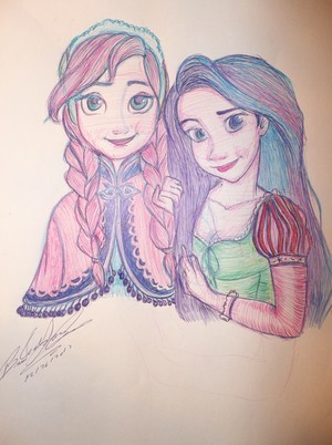 disneygirl7-Anna and Rapunzel