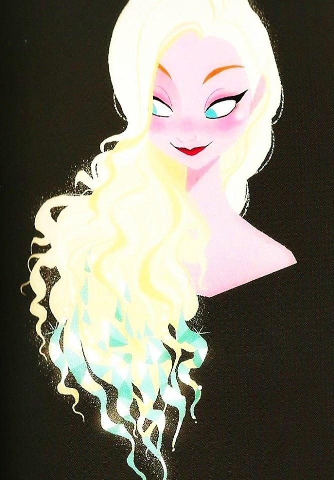 Elsa loose hair