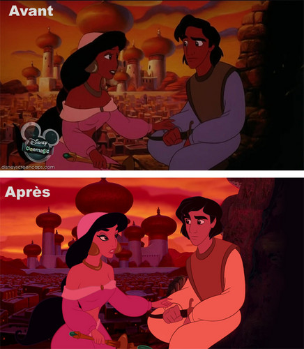 Disney Princess پیپر وال with عملی حکمت entitled [Visual reboot] Aladdin and the king of thieves