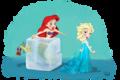 Ariel and Elsa