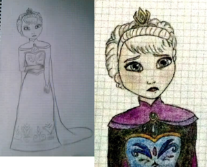 Elsa drawing (finished)