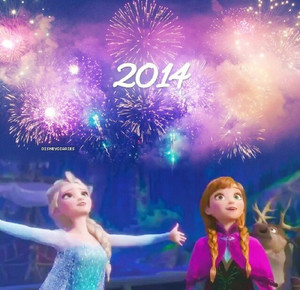anna and elsa happy new anno