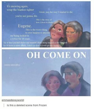 Eugene and Rapunzel in Arendelle
