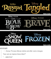 Before Names of Tangled, Brave and Frozen - disney-princess photo