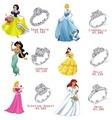 disney princess rings - disney-princess photo
