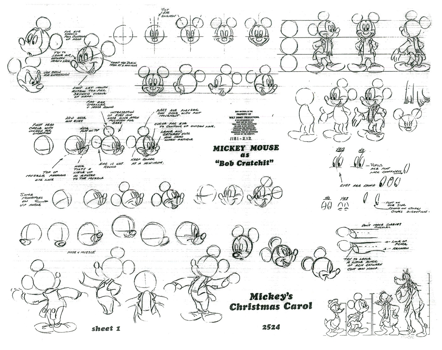 Mickey Sketch collection
