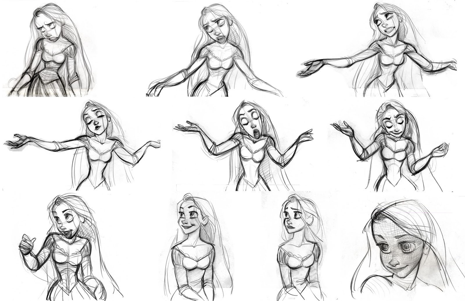 Disney Character Design Study : Disney sketches images tangled sketch hd wallpaper and