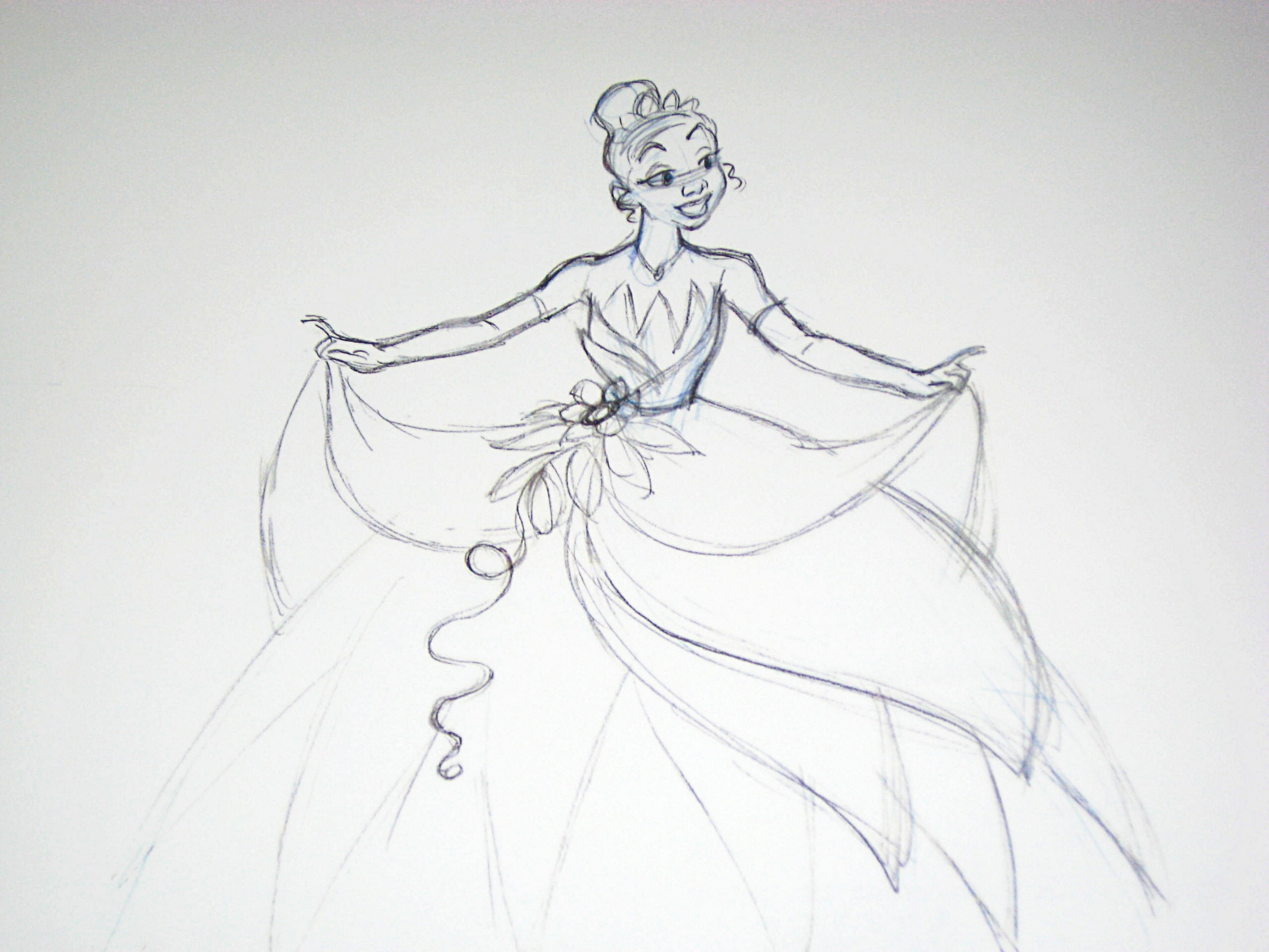Disney sketches images tiana wedding sketch hd wallpaper and background photos
